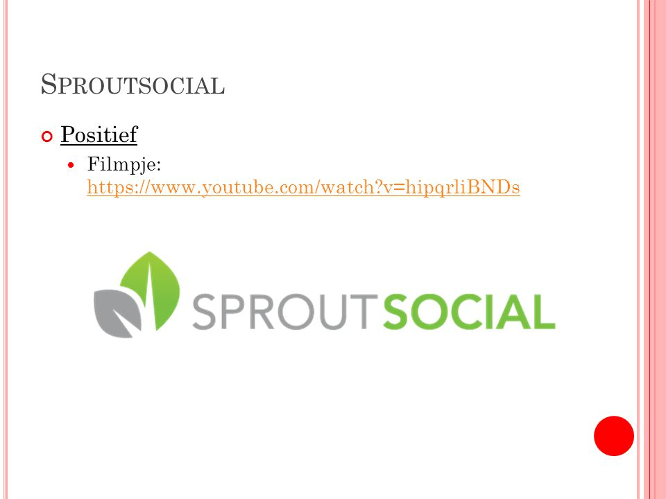 S PROUTSOCIAL Positief Filmpje: https://www.youtube.com/watch v=hipqrliBNDs https://www.youtube.com/watch v=hipqrliBNDs
