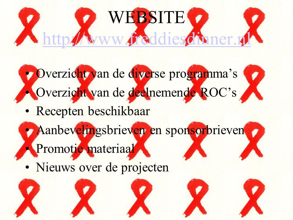 WEBSITE http://www.freddiesdinner.nl http://www.freddiesdinner.nl Overzicht van de diverse programma's Overzicht van de deelnemende ROC's Recepten bes