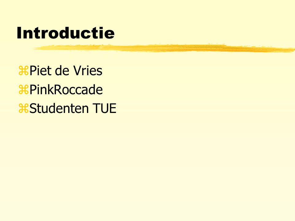 Introductie zPiet de Vries zPinkRoccade zStudenten TUE