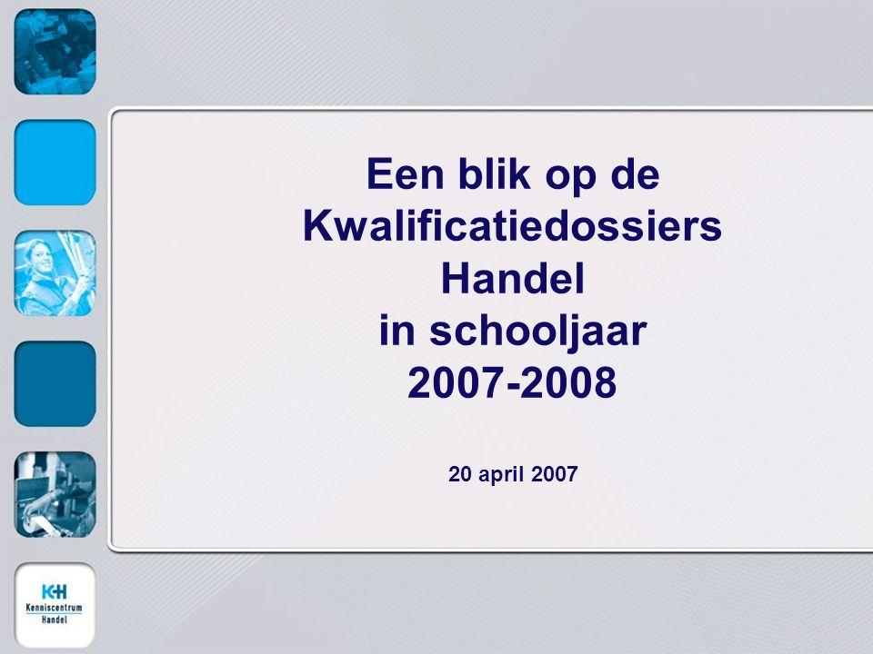 Een blik op de Kwalificatiedossiers Handel in schooljaar 2007-2008 20 april 2007