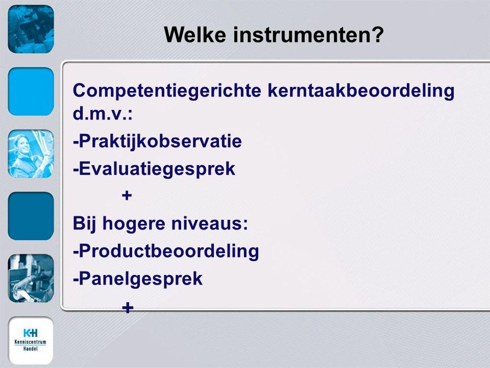 Welke instrumenten.