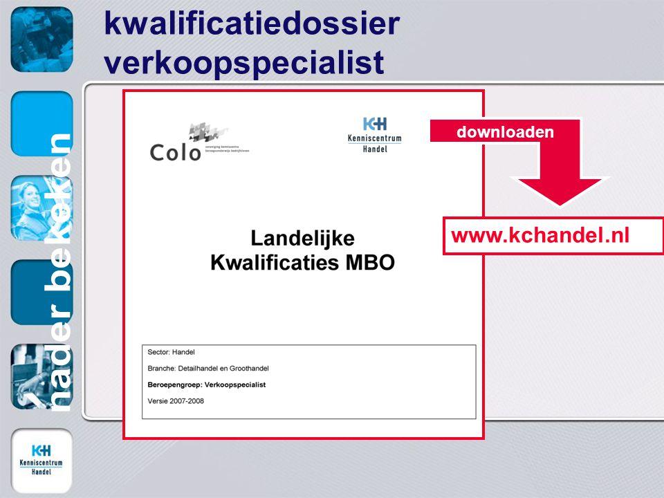 kwalificatiedossier verkoopspecialist www.kchandel.nl downloaden