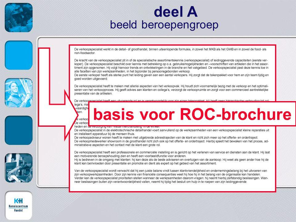 deel A beeld beroepengroep basis voor ROC-brochure