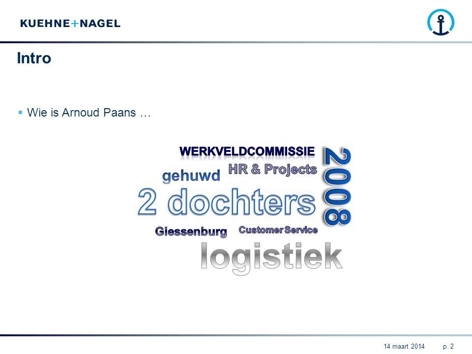 Table of Contents  Introductie Kuehne + Nagel Nederland  Logistieke trends  Impact van de trends op personeel  Onze verwachtingen van Opleiders en Leerlingen p.