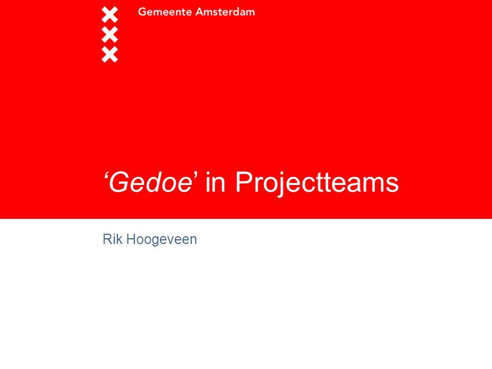 'Gedoe' in Projectteams Rik Hoogeveen