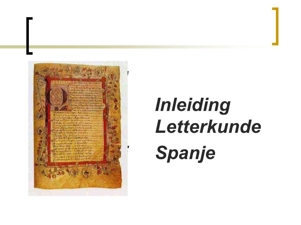 INLEIDIN Inleiding Inleiding Lunde Letterkunde SPANJE Spanje