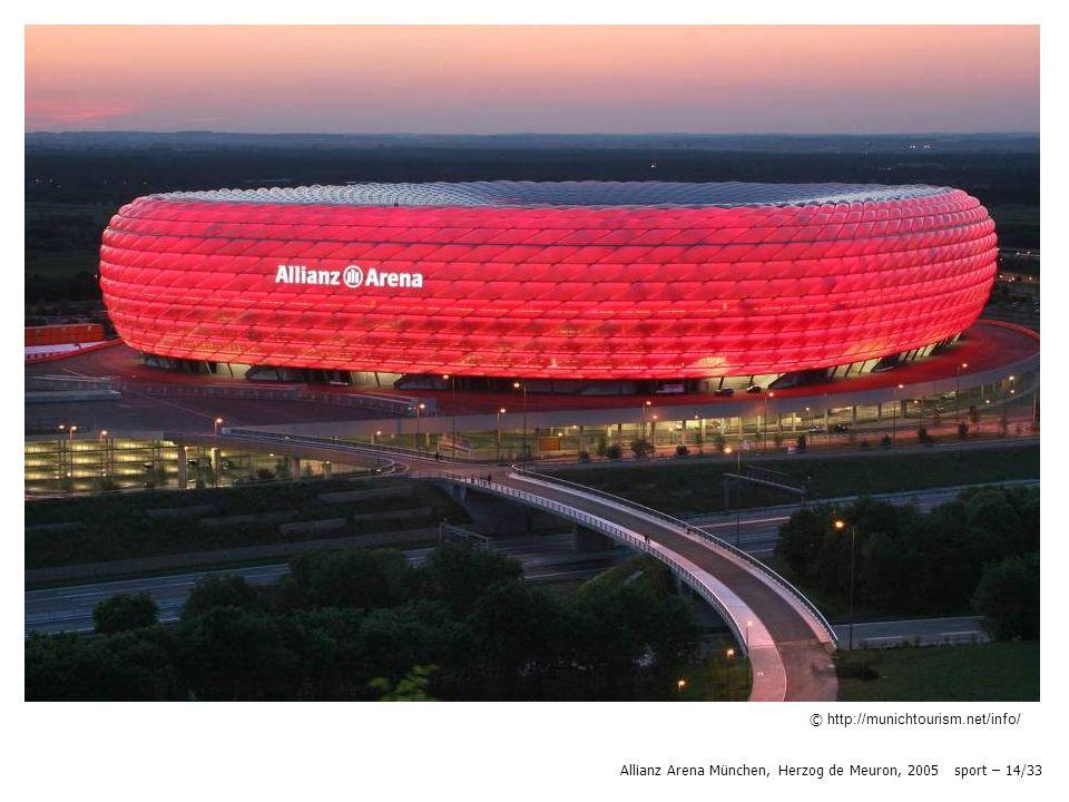 © http://munichtourism.net/info/ Allianz Arena München, Herzog de Meuron, 2005 sport – 14/33