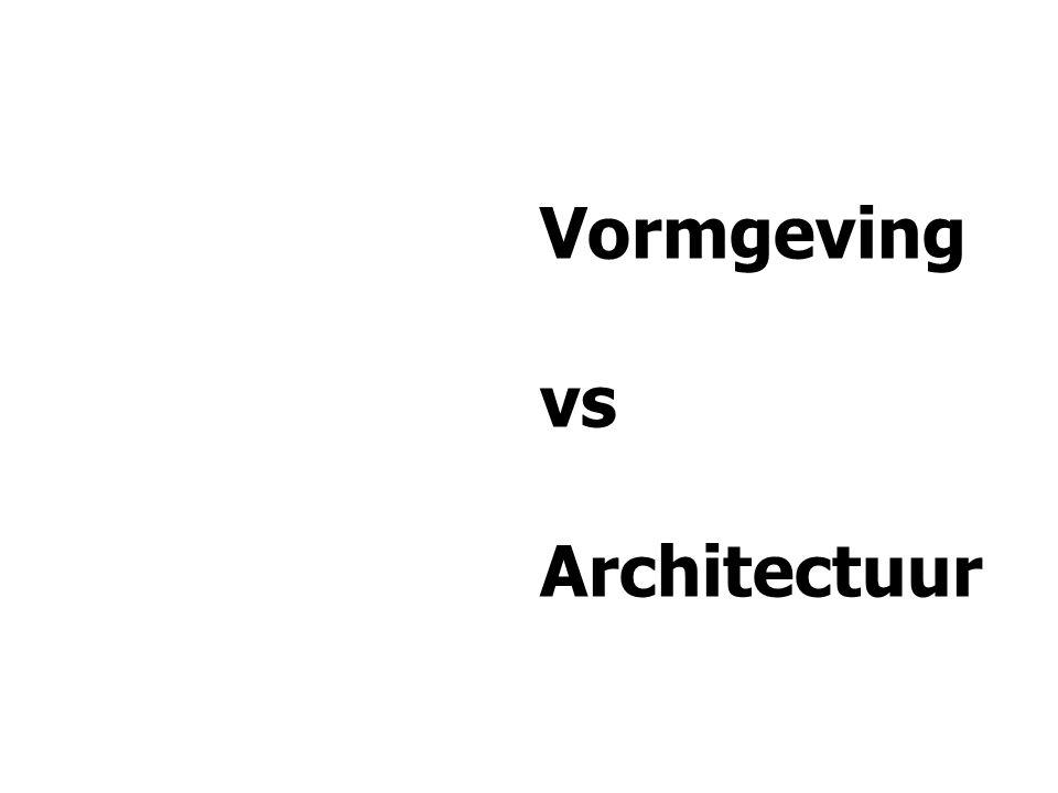 Vormgeving vs Architectuur