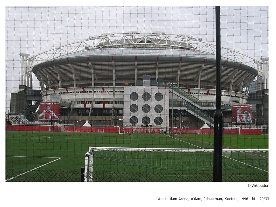 Amsterdam Arena, A'dam, Schuurman, Soeters, 1996 bi – 29/33 © Wikipedia