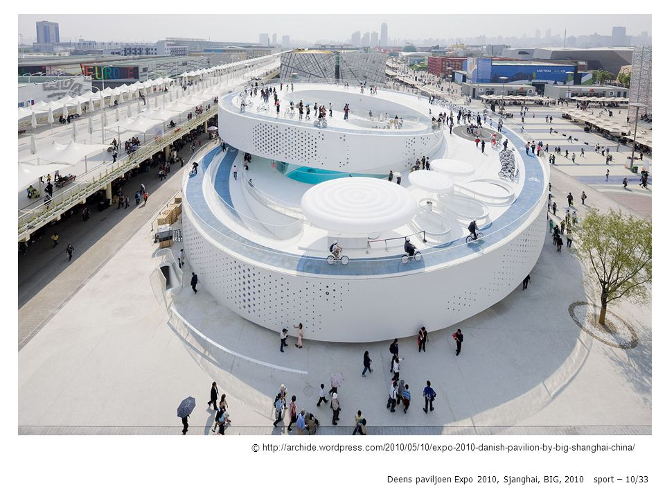 Deens paviljoen Expo 2010, Sjanghai, BIG, 2010 sport – 10/33 © http://archide.wordpress.com/2010/05/10/expo-2010-danish-pavilion-by-big-shanghai-china/