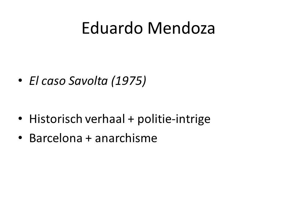 El caso Savolta (1975) Historisch verhaal + politie-intrige Barcelona + anarchisme