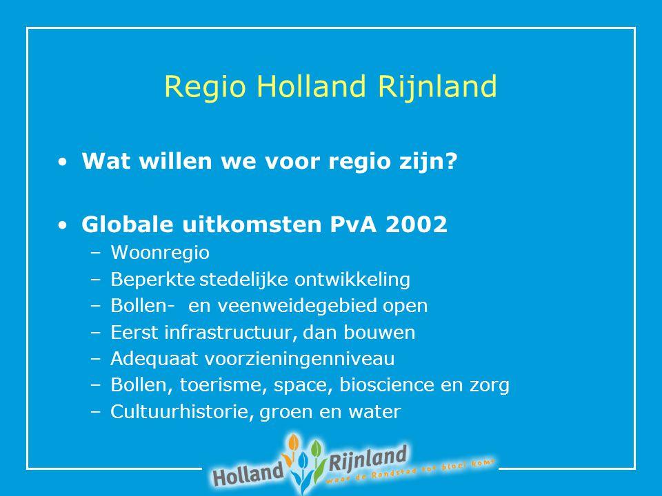 Regio Holland Rijnland Wat willen we voor regio zijn.