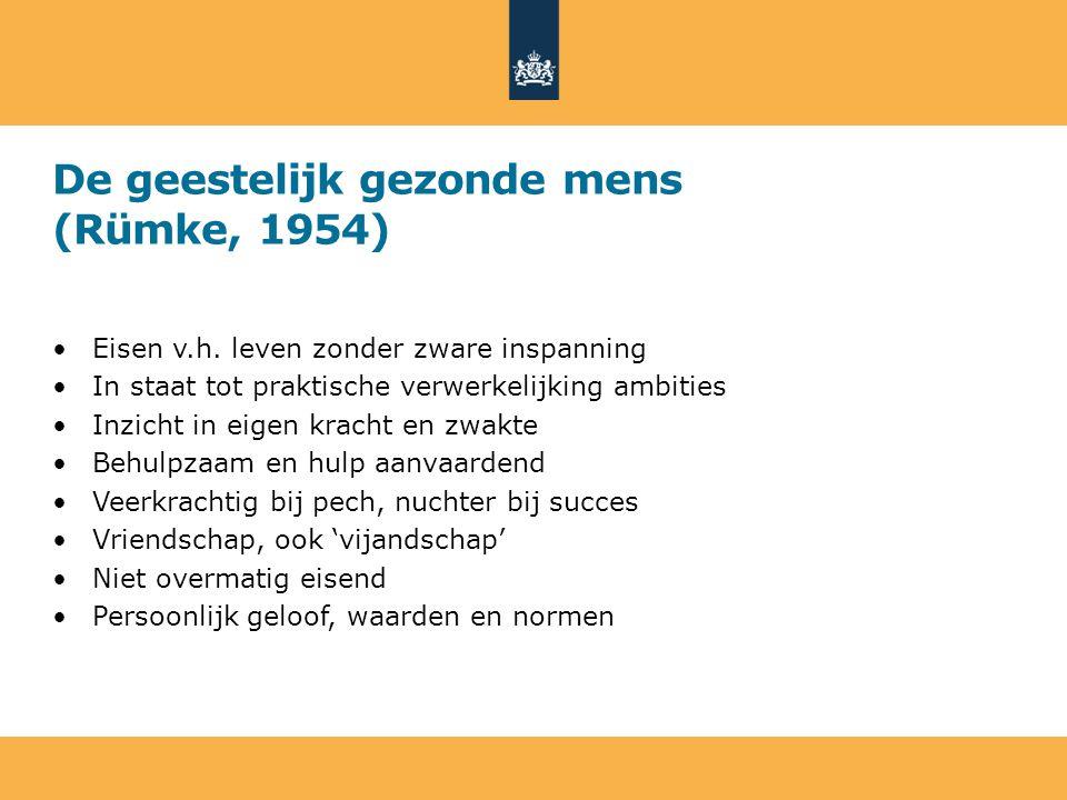 De geestelijk gezonde mens (Rümke, 1954) Eisen v.h.