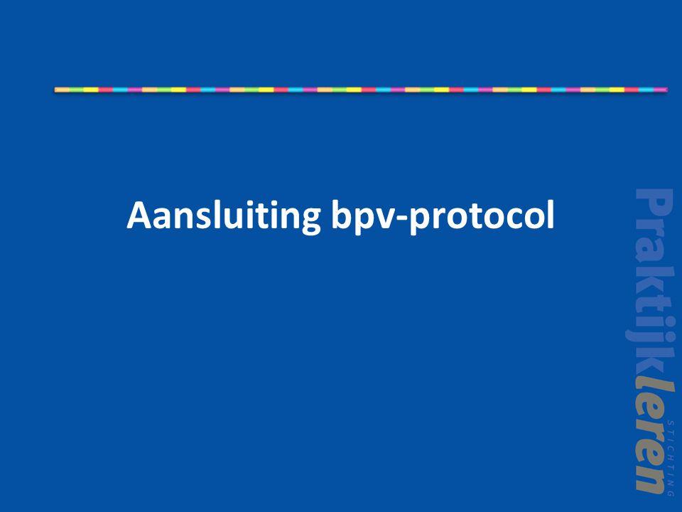Aansluiting bpv-protocol