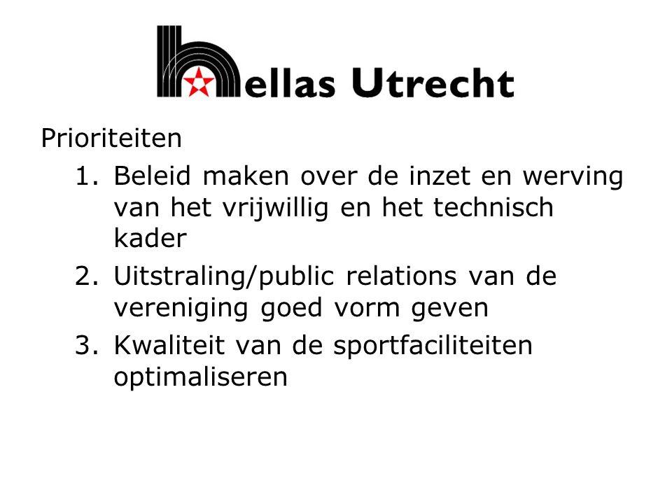We willen als Hellas wel een vooraanstaande vereniging van Utrecht blijven Daarom vrijwilligers nodig Wie wil hierin meedenken/ meewerken Wie heeft ideeën/suggesties Kortom: GEEF U OP