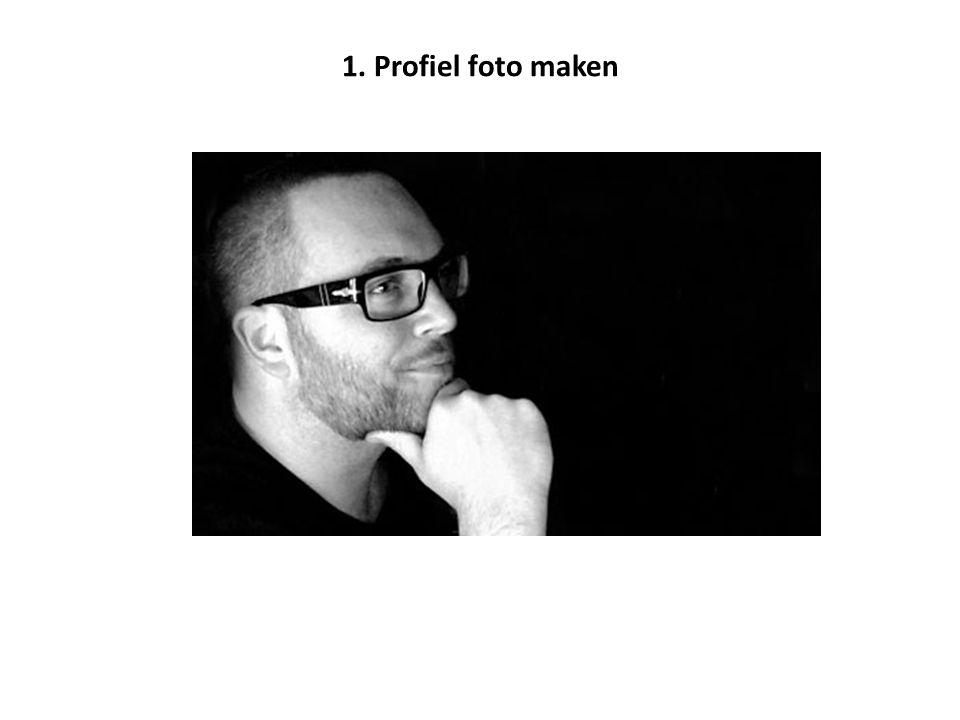 1. Profiel foto maken