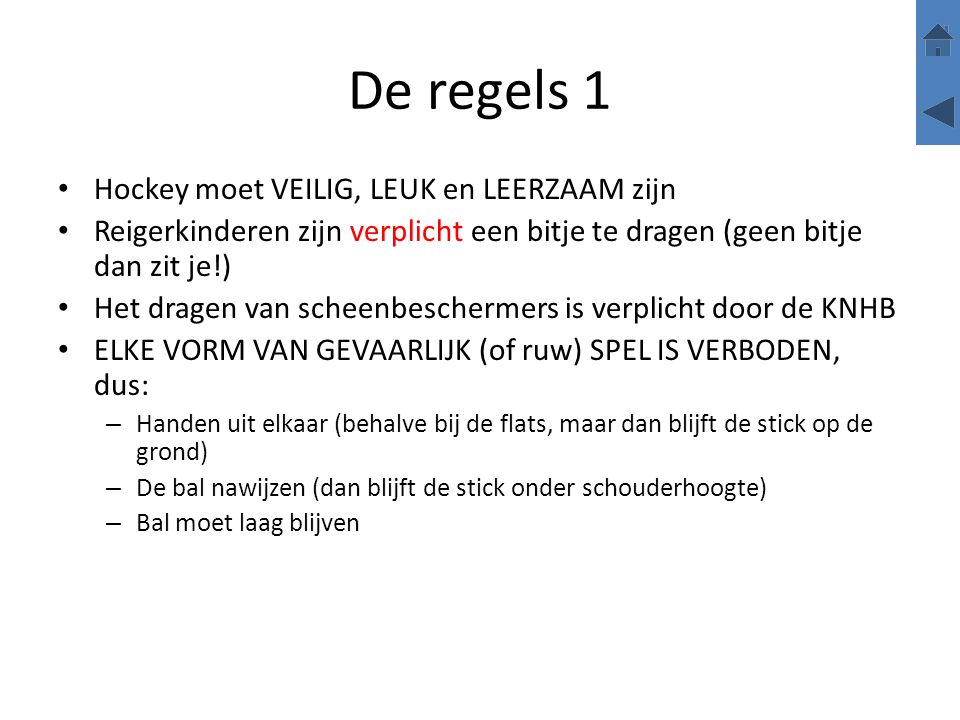 Aannemen van rechts Bron: Dutchfieldhockey/ep De bal 'in de voeten krijgen'