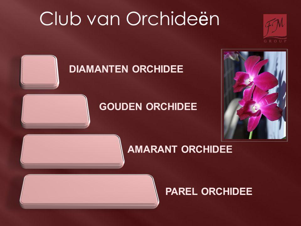 DIAMANTEN ORCHIDEE PAREL ORCHIDEE GOUDEN ORCHIDEE AMARANT ORCHIDEE Club van Orchide ë n