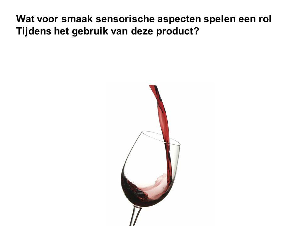 Wat voor smaak sensorische aspecten spelen een rol Tijdens het gebruik van deze product?