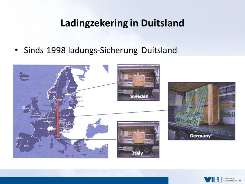 Ladingzekering in Duitsland Sinds 1998 ladungs-Sicherung Duitsland