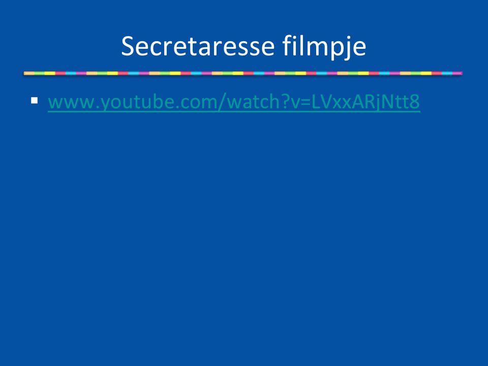 Secretaresse filmpje  www.youtube.com/watch?v=LVxxARjNtt8 www.youtube.com/watch?v=LVxxARjNtt8