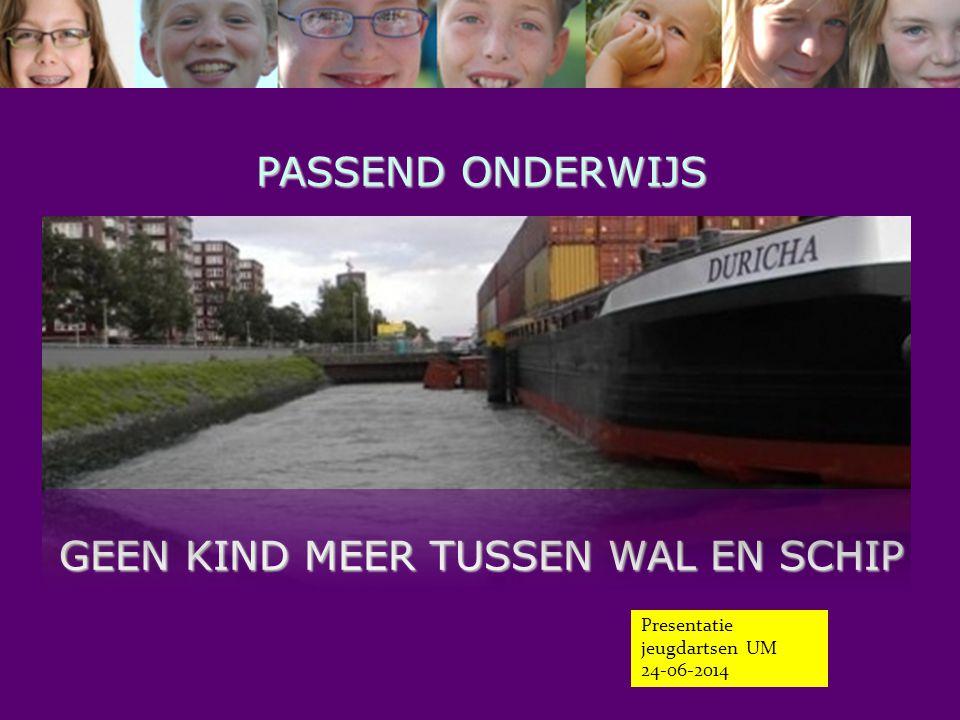 PASSEND ONDERWIJS GEEN KIND MEER TUSSEN WAL EN SCHIP Presentatie jeugdartsen UM 24-06-2014