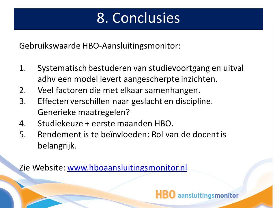 8. Conclusies: Maatwerkrapportage als aanknopingspunt voor beleid Havo-mbo: Een opleiding: