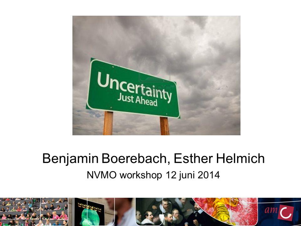 Benjamin Boerebach, Esther Helmich NVMO workshop 12 juni 2014