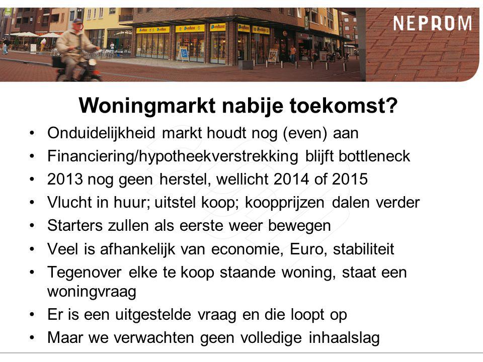 Woningmarkt nabije toekomst.