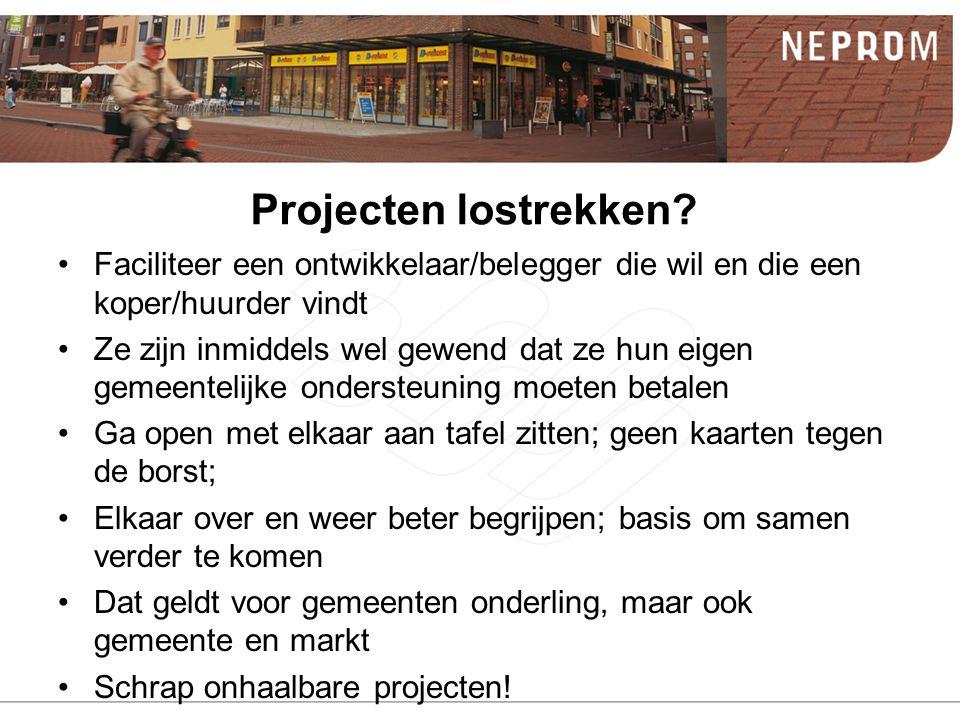 Projecten lostrekken.