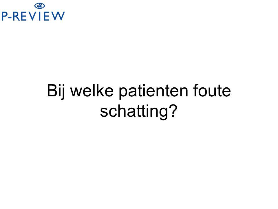 Bij welke patienten foute schatting?