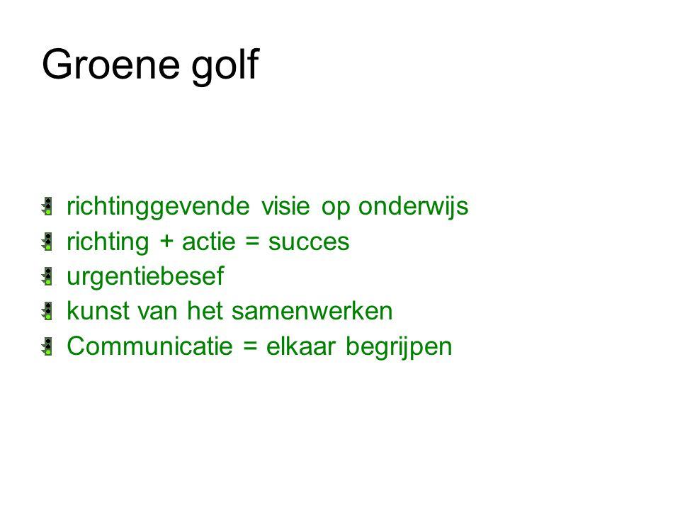 Groene golf door: maatwerk implementatie de leerling is het uitgangspunt