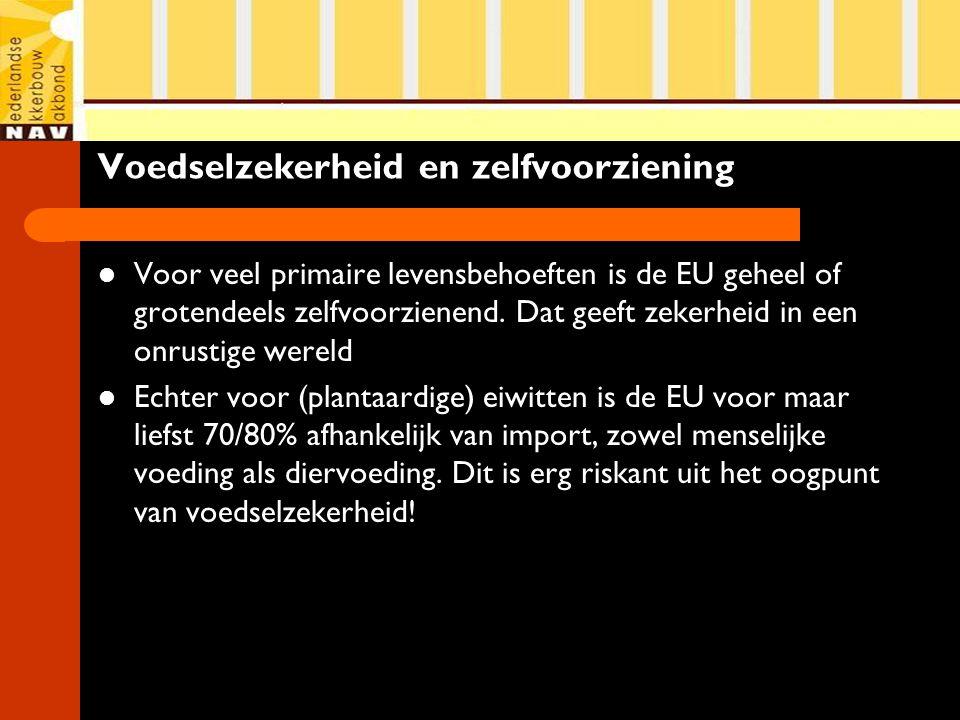 Voedselzekerheid en zelfvoorziening Voor veel primaire levensbehoeften is de EU geheel of grotendeels zelfvoorzienend. Dat geeft zekerheid in een onru