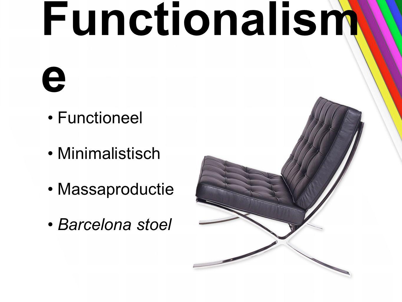Functionalism e Functioneel Minimalistisch Massaproductie Barcelona stoel