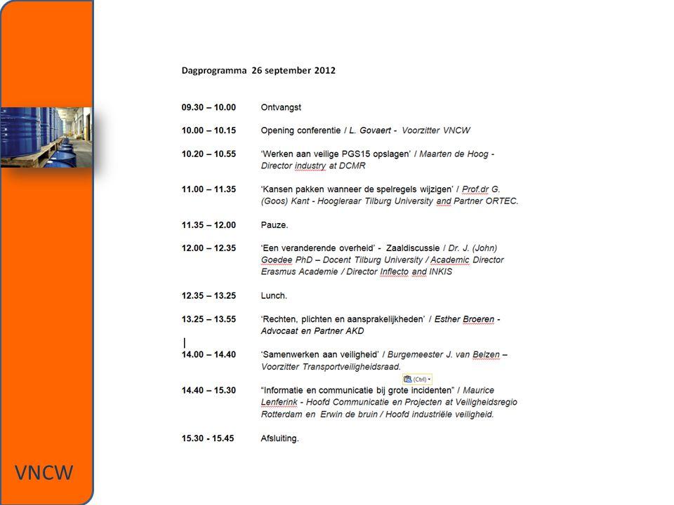 Dagprogramma VNCW
