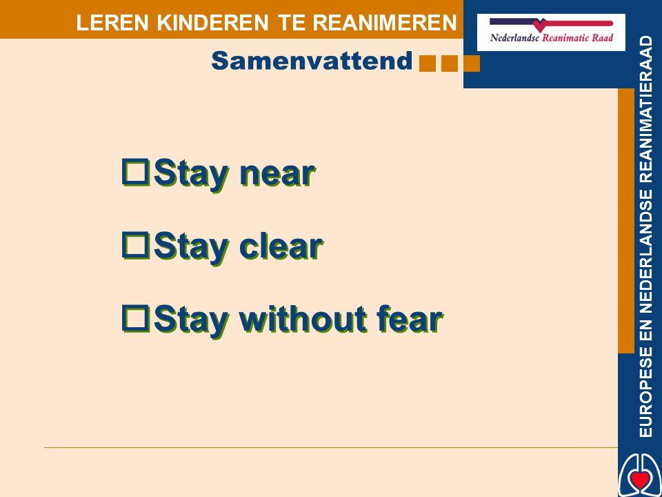 EUROPESE EN NEDERLANDSE REANIMATIERAAD LEREN KINDEREN TE REANIMEREN