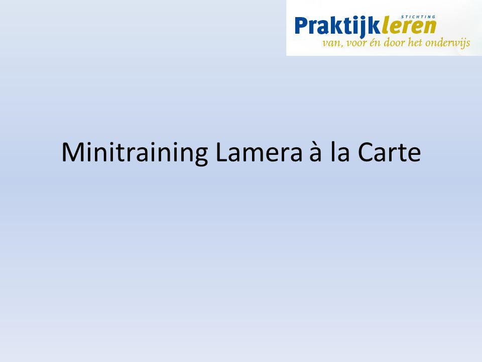 Minitraining Lamera à la Carte