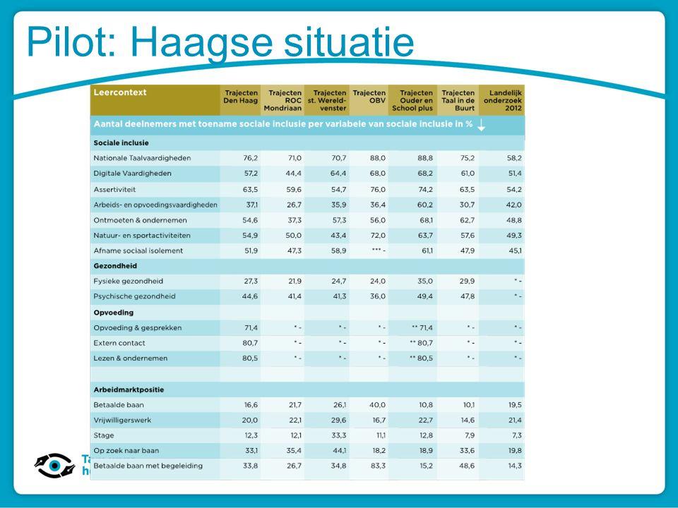 Pilot: Haagse situatie
