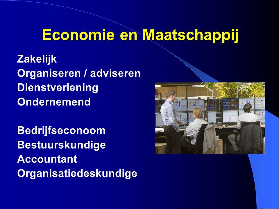 Economie en Maatschappij Zakelijk Organiseren / adviseren Dienstverlening Ondernemend Bedrijfseconoom Bestuurskundige Accountant Organisatiedeskundige
