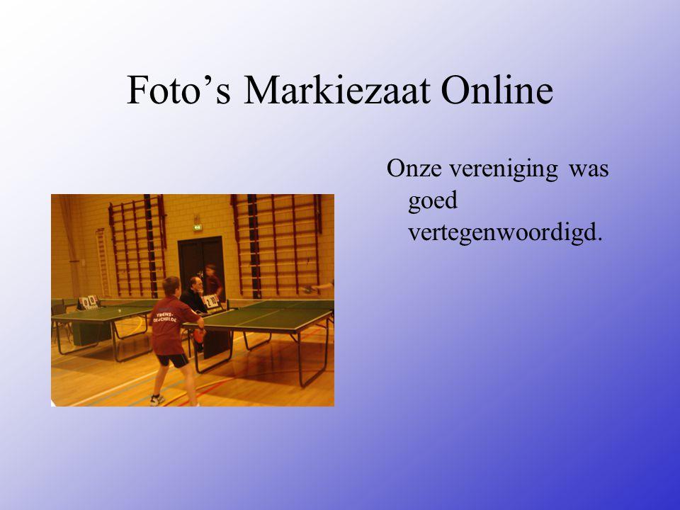 Foto's Markiezaat Online Onze vereniging was goed vertegenwoordigd.