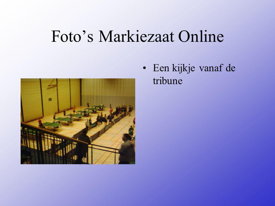 Foto's Markiezaat Online Een kijkje vanaf de tribune