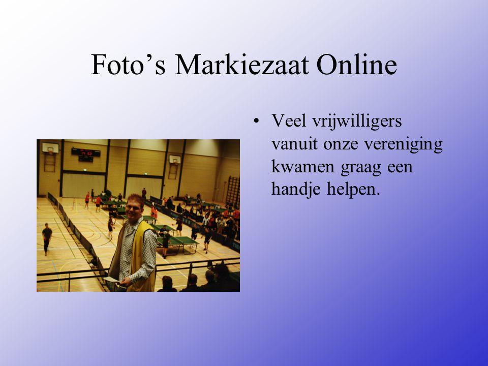 Foto's Markiezaat Online Veel vrijwilligers vanuit onze vereniging kwamen graag een handje helpen.