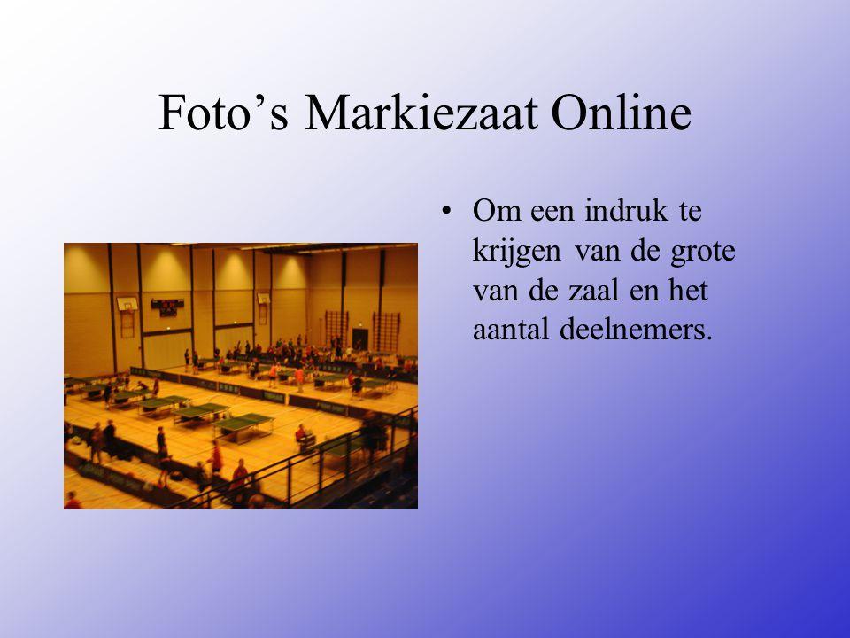 Foto's Markiezaat Online Om een indruk te krijgen van de grote van de zaal en het aantal deelnemers.