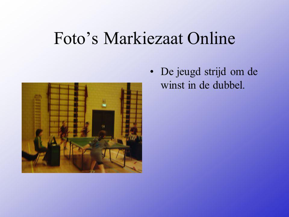 Foto's Markiezaat Online De jeugd strijd om de winst in de dubbel.