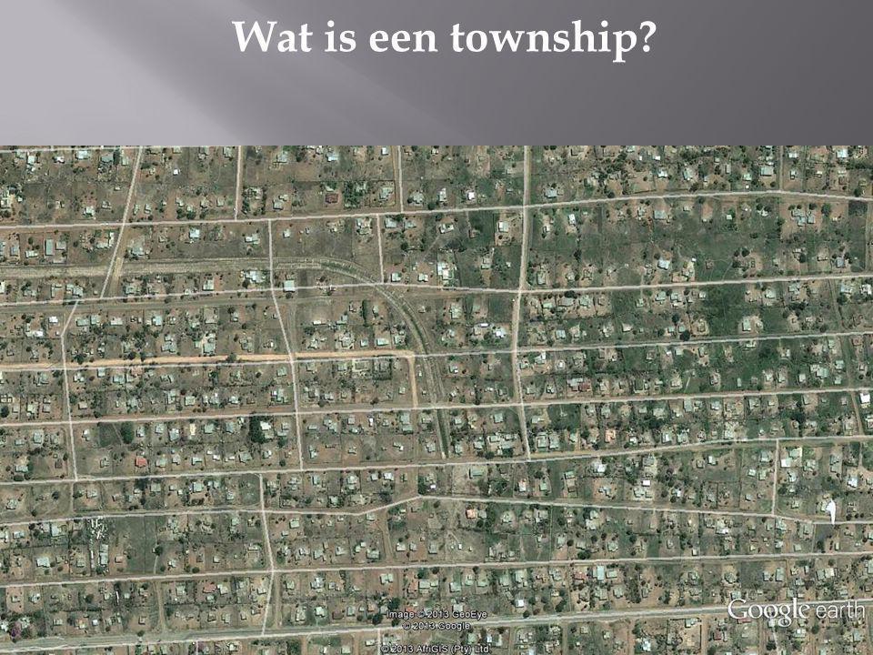 Wat is een township