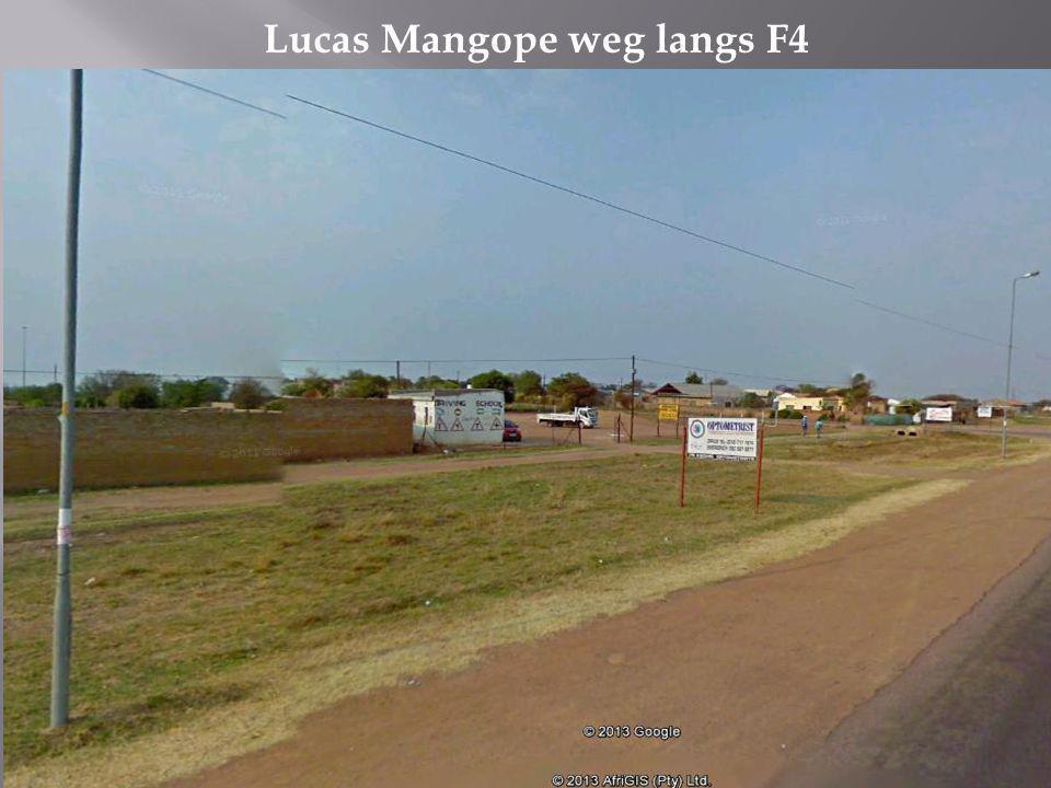 Lucas Mangope weg langs F4