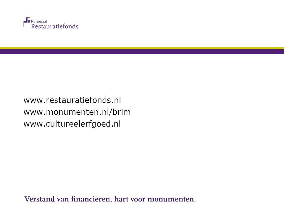 18 november 2010Regiobijeenkomst Religieus Erfgoed Zuid-Holland www.restauratiefonds.nl www.monumenten.nl/brim www.cultureelerfgoed.nl