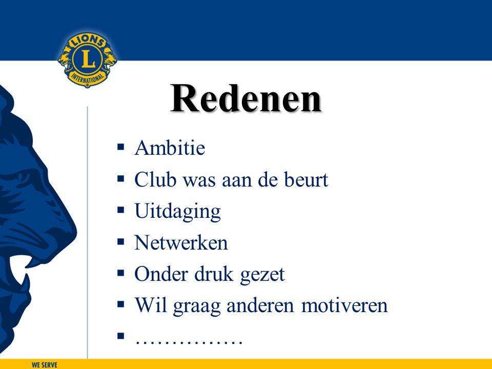 LIONS CLUBS INTERNATIONAL CLUB EXCELLENCE PROCESS 46 Stap 2: Wat maakt een Club Excellent.