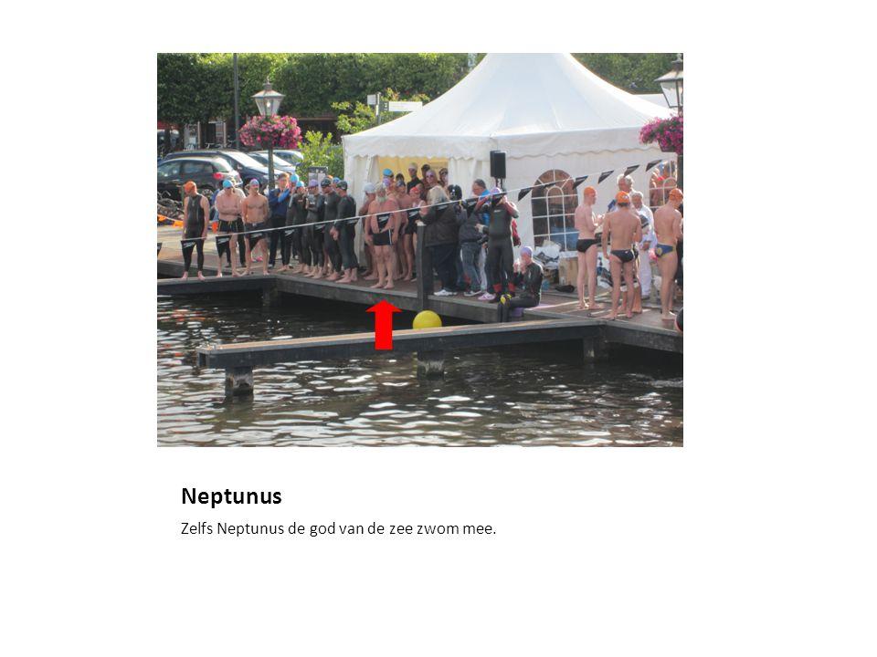 Neptunus Zelfs Neptunus de god van de zee zwom mee.