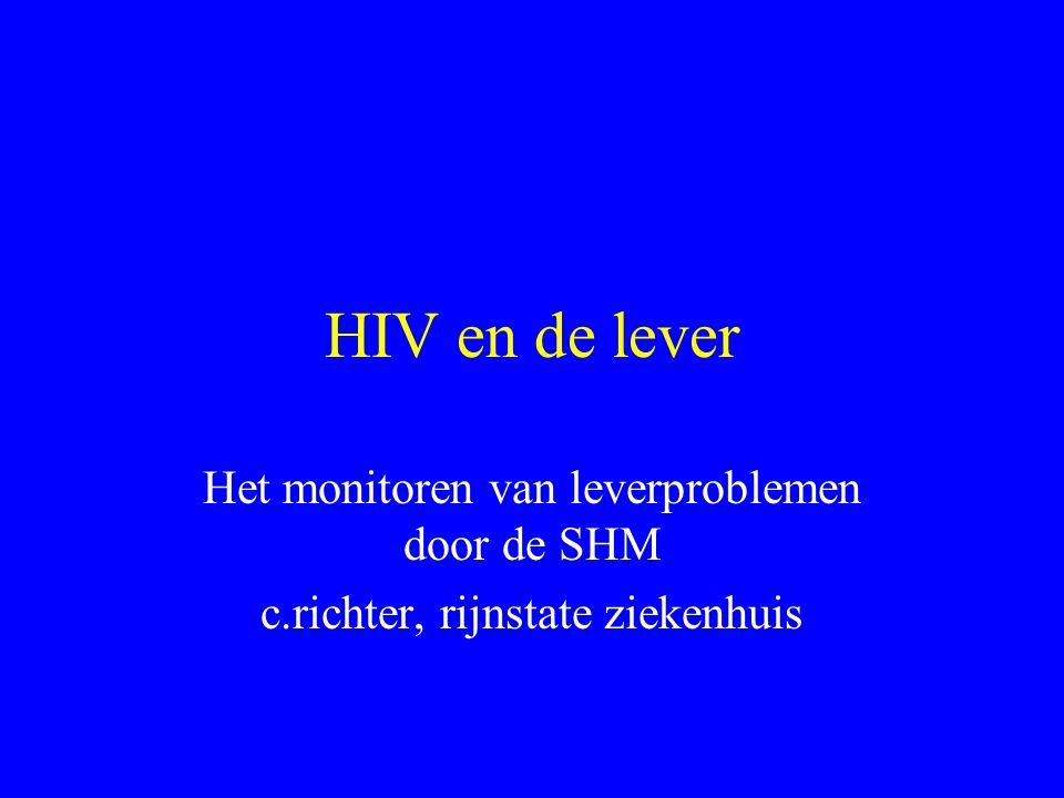 HIV en de lever Het monitoren van leverproblemen door de SHM c.richter, rijnstate ziekenhuis